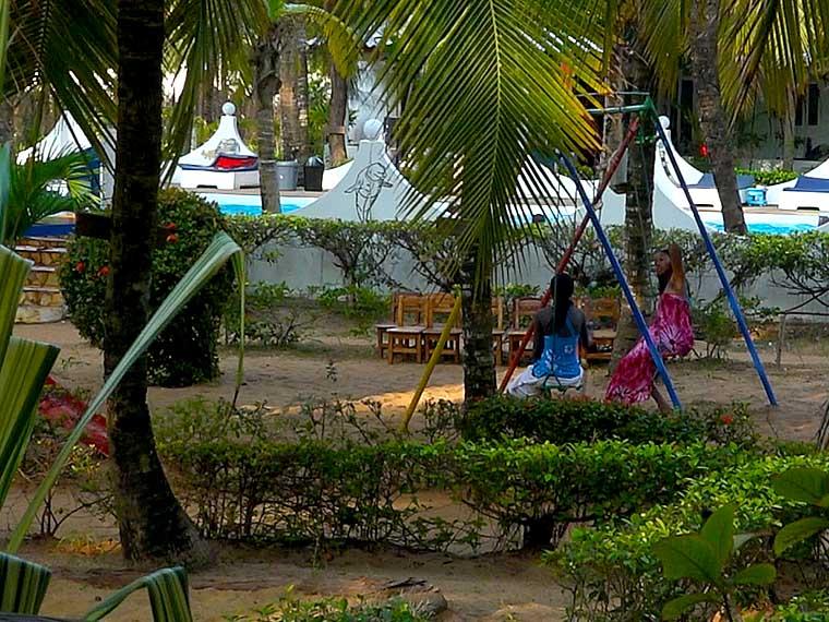 L'hôtel Awalé Plage (Grand Popo - Bénin) - Jeux et animations