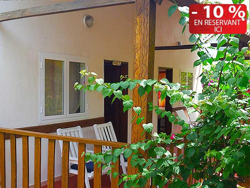 L'hôtel Awalé Plage (Grand Popo - Bénin) - Bungalow Plage et Jardin single ou double ou famille