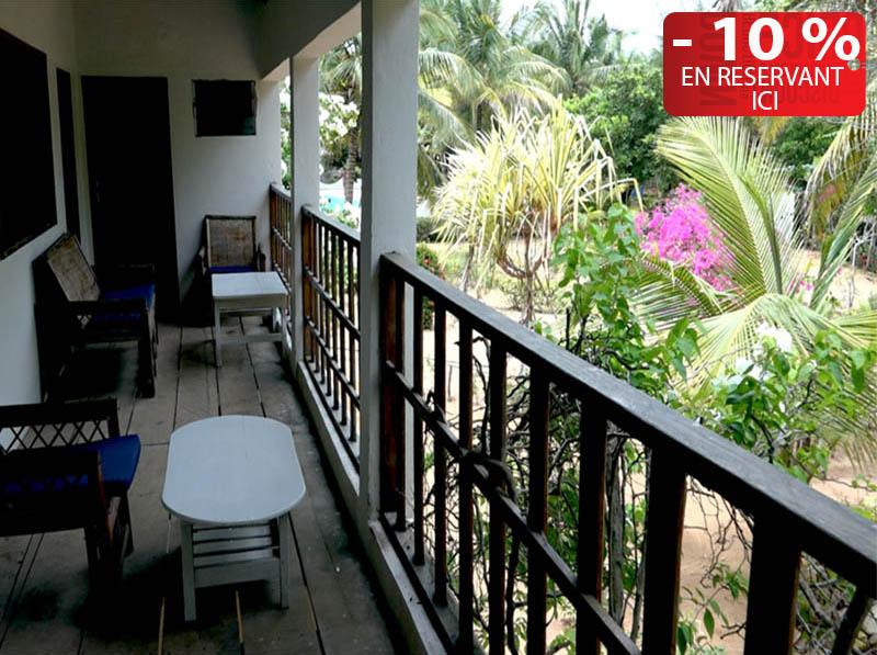 L'hôtel Awalé Plage (Grand Popo - Bénin) -Chambres Jardin single ou double ou famille